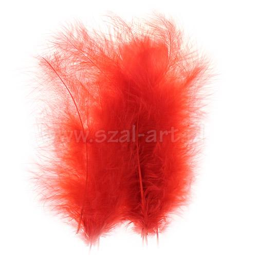 Piórka dekoracyjne dł. ok.12cm czerwone PIM-20