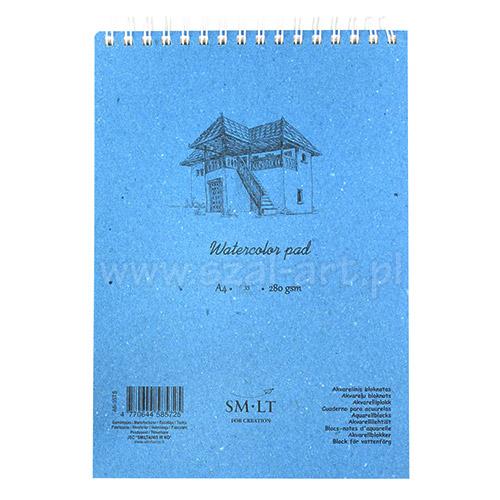Blok SM-LT watercolor pad akwarelowy 280g 35ark A4 spirala