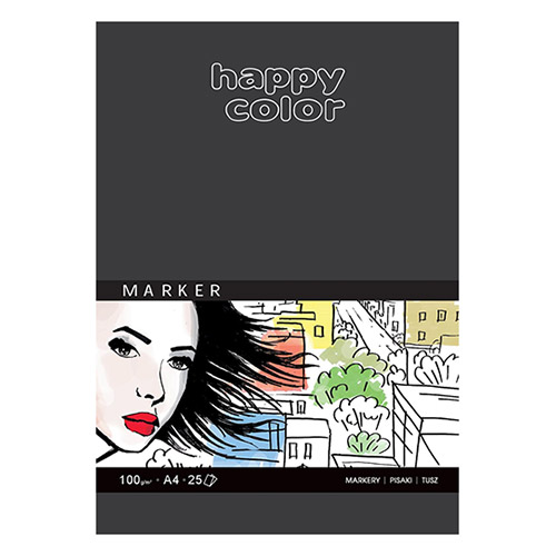 Blok Happy Color do markerów 100g 25ark