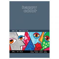 Blok Happy Color mix media 200g 25 ark