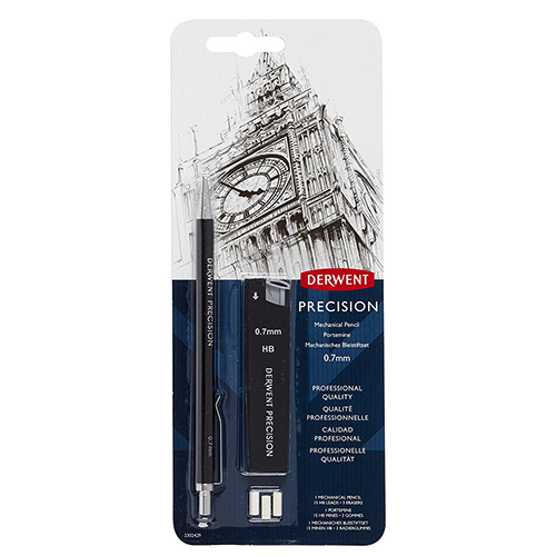 Derwent precision ołówek automatyczny z akcesoriami 0.7mm