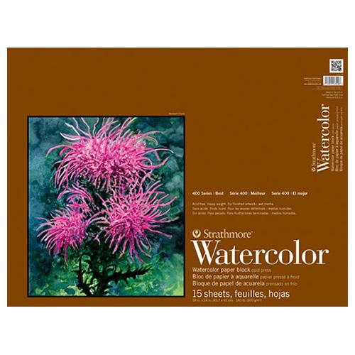 Blok Strathmore s.400 watercolor 300g 15ark