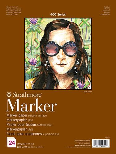 Blok Strathmore s.400 marker 190g 24ark