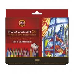 Koh-i-noor polycolor zestaw 24 artystycznych kredek karton opak