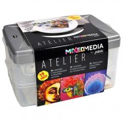 Pebeo mixed media atelier zestaw farb + akcesoria