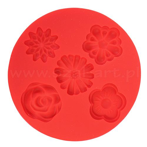 Fimo foremki silikonowe - kwiatki