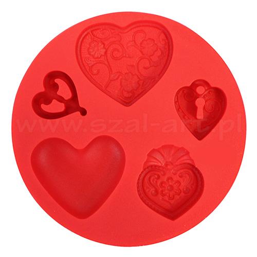 Fimo foremki silikonowe - serca