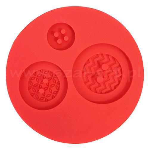Fimo foremki silikonowe - guziki