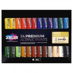 Zieler premium acrylic zestaw farb akrylowych 24x22ml