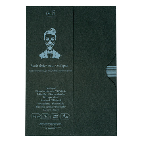 Blok SM-LT sketch pad black A4 165g 30ark etui