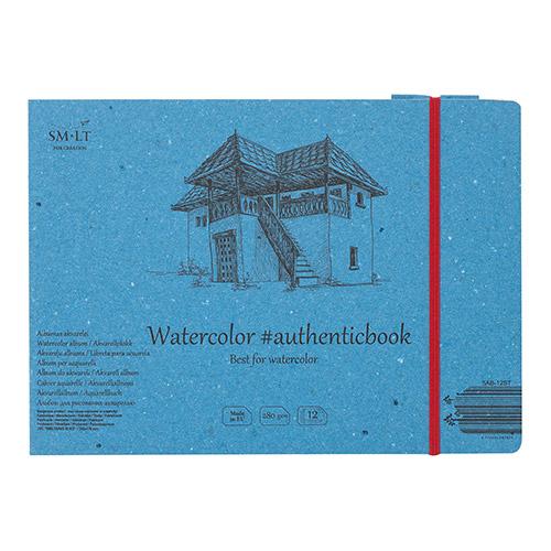 Blok SM-LT watercolor pad szyty z gumką 17,5X24cm 280g 12ark
