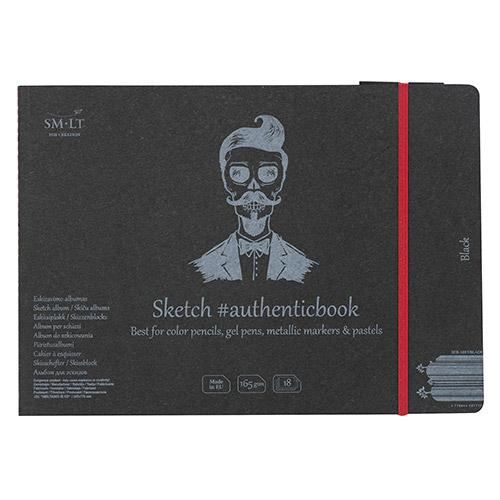 Blok SM-LT sketch pad szyty z gumką 17,5X24cm 165g 18ark