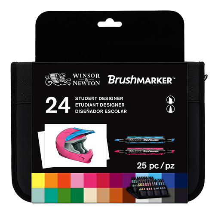 Winsor&Newton brushmarker student designer zestaw 24 kolorów