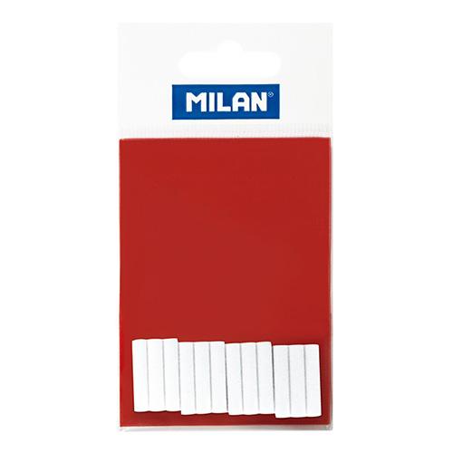 Milan zestaw 12 białych wkładów do gumki elektrycznej