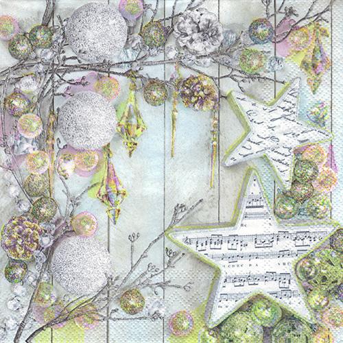 Serwetka do decoupage Maki 5-016201 gwiazdy Boże Narodzenie