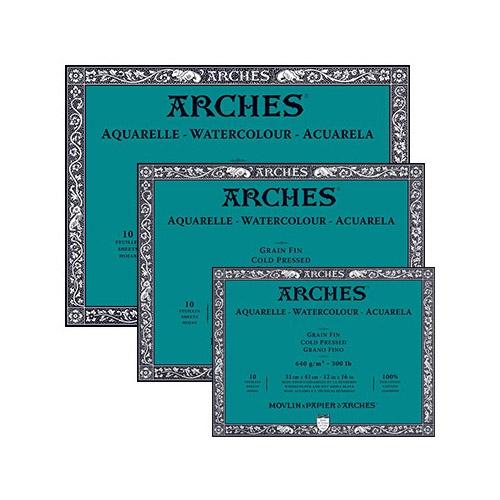 Blok Arches akwarelowy 640g 10ark