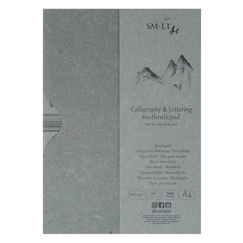 Szkicownik SM-LT calligraphy&lettering A4 100g 50ark etui