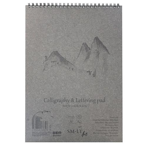 Szkicownik SM-LT calligraphy&lettering 100g 50ark spirala