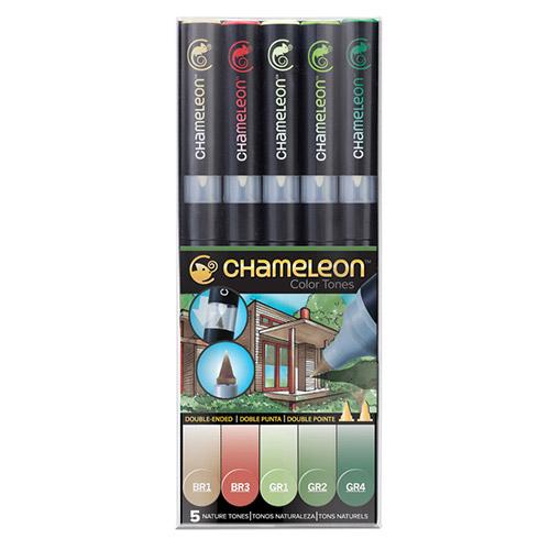 Chameleon nature tones zestaw 5 markerów