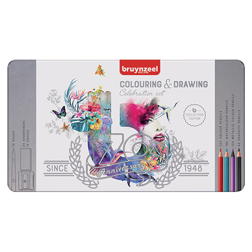 Bruynzeel colouring & drawing zestaw 70 elementów