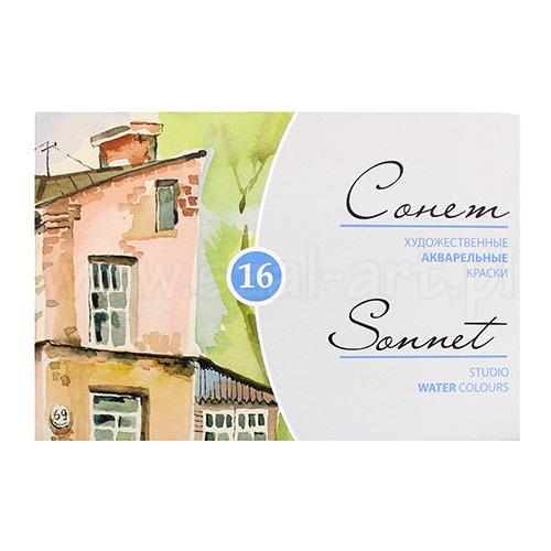 Sonnet studio zestaw 16 farb akwarelowych w kostce