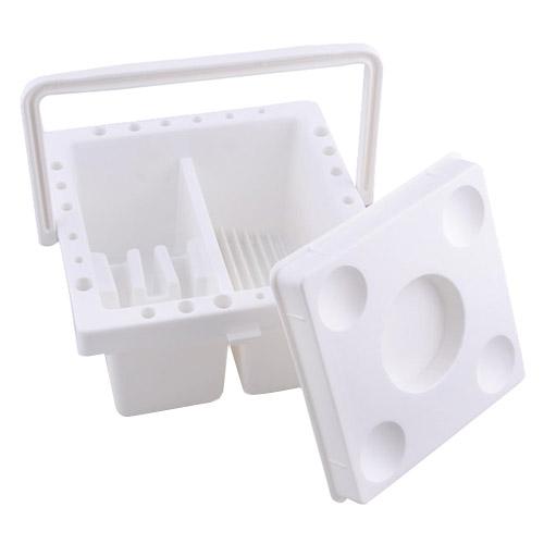 Naczynie do mycia pędzli plastikowe kwadratowe 16,5x16,5x9cm