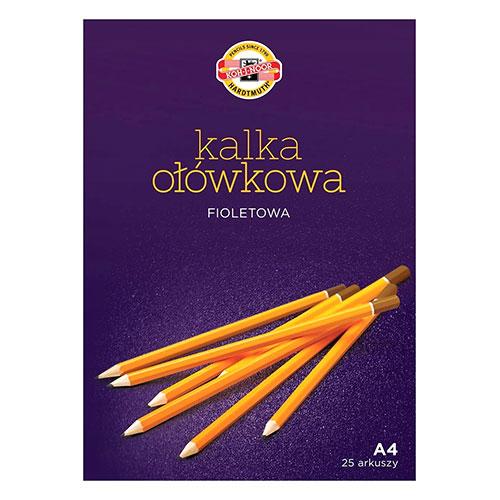 Koh-i-noor kalka ołówkowa fioletowa A4 25 arkuszy