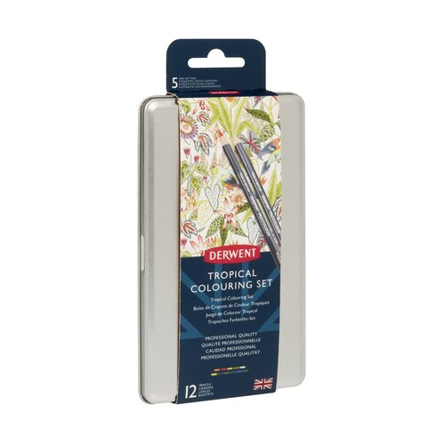 Derwent tropical gift tag colouring zestaw 12 kredek