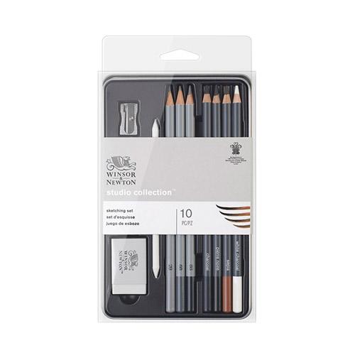 Winsor&Newton studio collection sketching zestaw 10 sztuk
