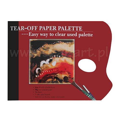 Paleta papierowa prostokątna 23x30.5cm 50g 36 arkuszy