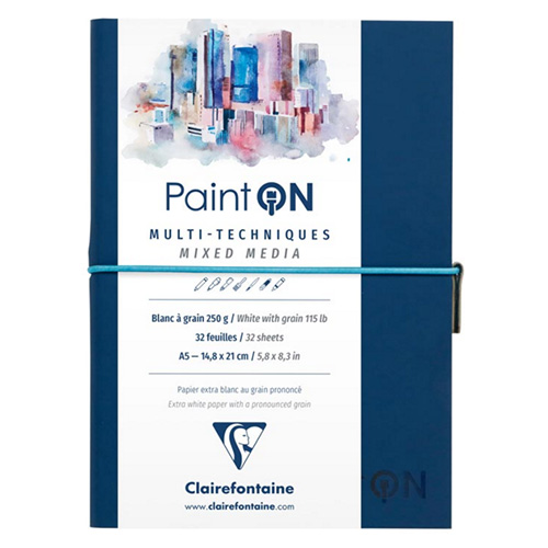 Blok Clairefontaine paint on mixed media 250g 32ark blue