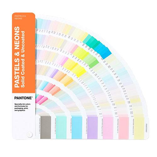 Pantone pastel & neons wzorniki kolorów