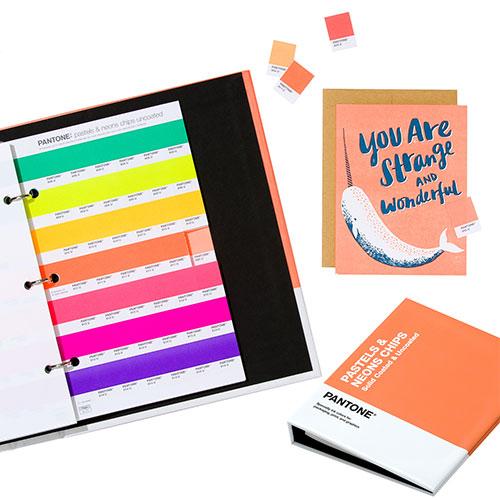 Pantone pastel & neons chips wzorniki kolorów