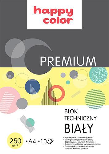 Blok Happy Color Premium techniczny biały 250g 10ark