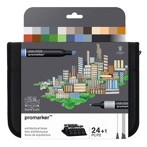 Winsor&Newton promarker architectural zestaw 24 kolorów