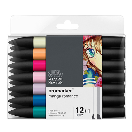 Winsor&Newton promarker manga romance zestaw 13 kolorów