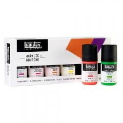 Liquitex acrylic gouache fluorescents 6x59ml zestaw gwaszy akryl
