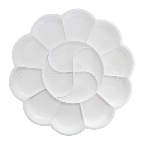 Paleta plastikowa okrągła kwiatek 19,5cm