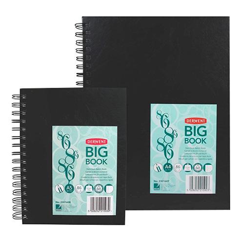 Szkicownik Derwent big book spirala 110g 86ark