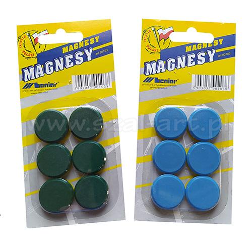 Komplet magnesów o średnicy 25mm 6 sztuk