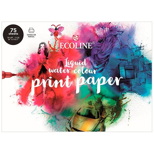 Blok Talens ecoline print paper A4 150g 75ark