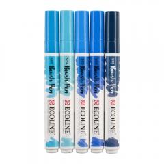 Talens ecoline blue zestaw 5 pisaków