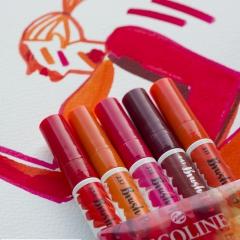 Talens ecoline red zestaw 5 pisaków