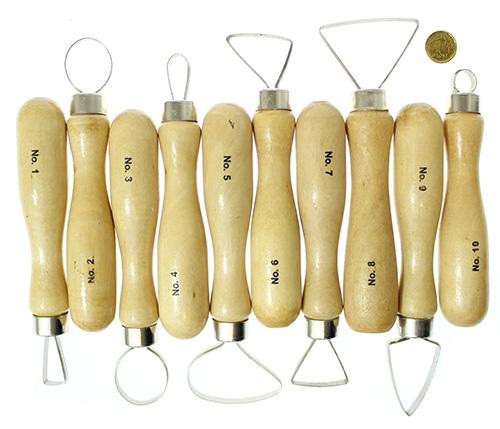 Narzędzia do modelowania z dużymi oczkami - 10 sztuk