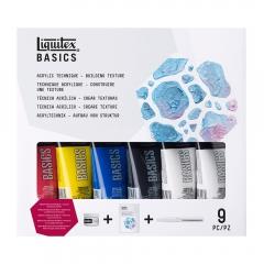 Liquitex basics acrylic building texture zestaw 9 elementów