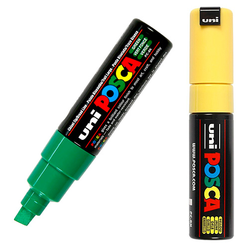 Posca Uni 8mm pisak z farbą plakatową