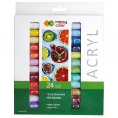 Happy Color zestaw farb akrylowych 24x12ml