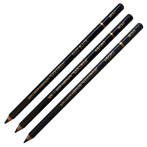 Koh-i-noor gioconda negro czarna pastela w drewnie 8815