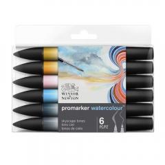 Winsor&Newton promarker watercolour sky tones 6 pisaków