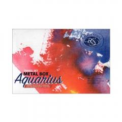 Szmal aquarius travel set metal box zestaw 12 akwareli w półkost
